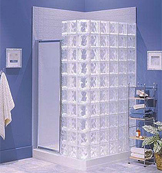 Glass Block Shower Kit - Classic