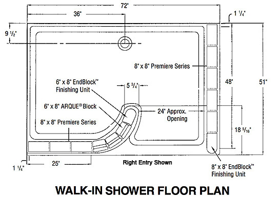 Great Walk-In Shower with Glass Block 544 x 387 · 100 kB · jpeg