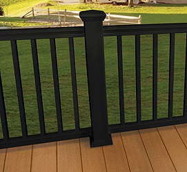 Composite Railing with Square Composite Balusters