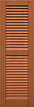 Composite Shutter - Louvered with Center Rail