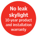 no leak skylight warranty