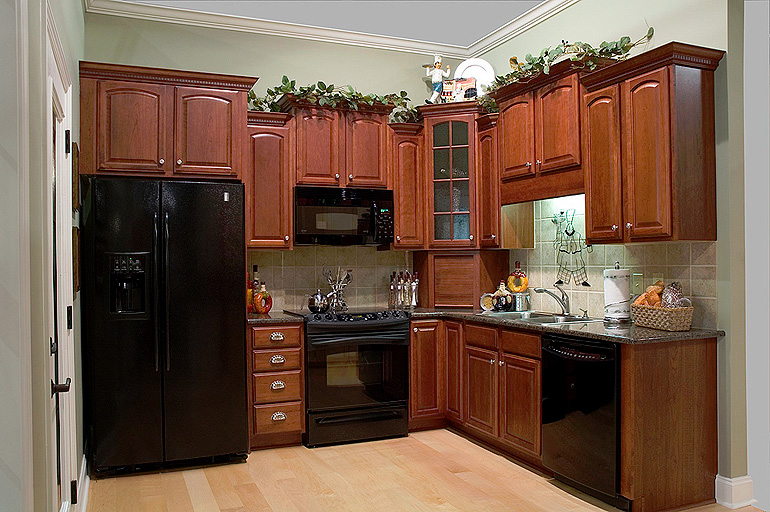 Kitchen cabinets photo gallery accent building products for Arch kitchen cabinets