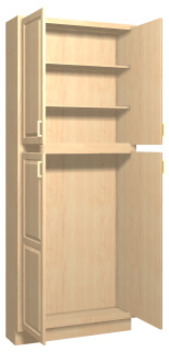 Summerfield 1 Maple Kitchen Tall Cabinets Stain Finish Accent Building Products
