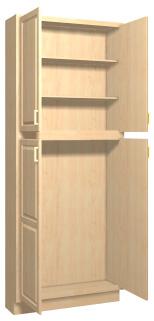Summerfield 1 Maple Kitchen Tall Cabinets - Stain Finish ...