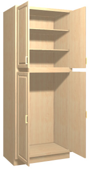 Summerfield 1 Maple Kitchen Tall Cabinets - Stain Finish :: Accent ...