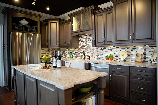 Cherry Wood Kitchen And Bath Cabinets