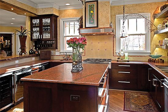 maple wood kitchen and bath cabinets
