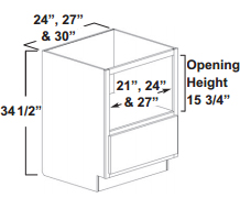 microwave base cabinet