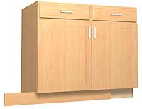 Summerfield 1 Maple Kitchen Base Cabinets - Stain Finish ...