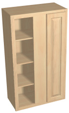 "42"" tall blind corner wall cabinet"