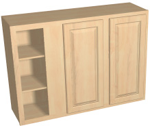 "30"" high double door blind corner cabinet"