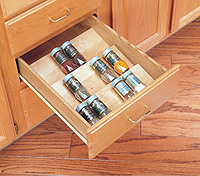 spice drawer insert - wood