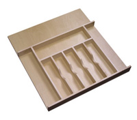 wooden utility tray drawer insert