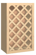 Lattice Wine Rack Cabinet