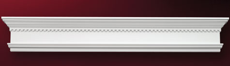Fypon crosshead with dentil trim accent building products for Fypon window trim