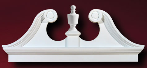 Fypon Crosshead And Rams Head Pediment Accent Building
