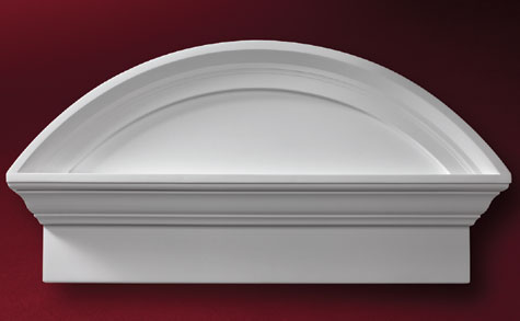 Fypon Crosshead And Segment Arch Pediment Accent