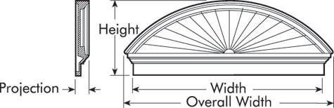 Fypon combination sunburst accent building products for Fypon gable pediments