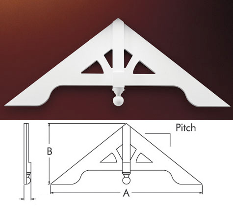 Fypon gable pediments gable decorations victorian gable Gable accents