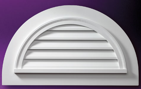 Fypon Half Round Louvers With Trim Accent Building Products