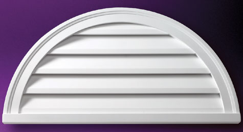 Fypon Half Round Louvers And Gable Vents Accent
