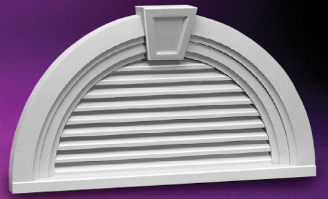 Fypon half round louvers and gable vents accent for Fypon gable decorations