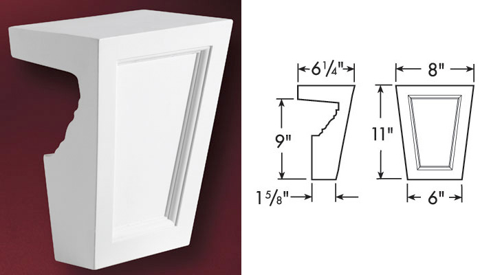 Fypon 9 window crosshead accent building products for Fypon window pediments