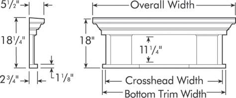 Fypon Massive Door Crosshead Accent Building Products