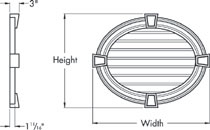 Fypon Horizontal Oval Gable Vents Accent Building Products