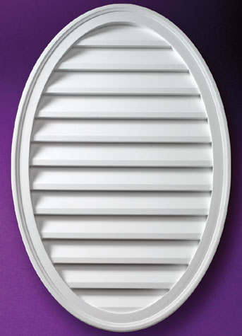 Fypon vertical oval louvers and gable vents accent for Fypon gable vents