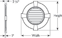 Round Gable Vents