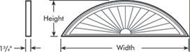 Fypon sunburst pediment segment accent building products for Fypon gable pediments