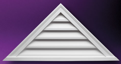 Triangle Louvers and Gable Vents