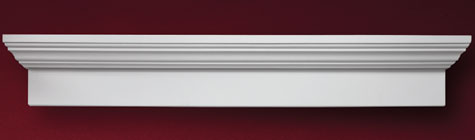 Fypon 6 window crosshead accent building products for Fypon window pediments