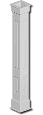 columns wrap double raised panel