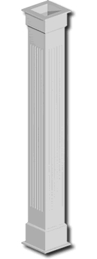 Fypon pvc column wraps column covers accent building Fypon pvc