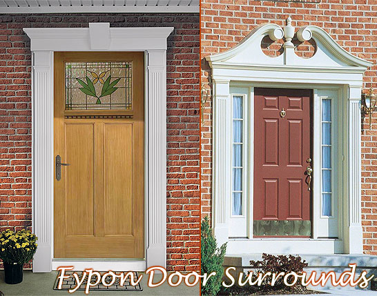 Fypon door surrounds fypon door molding door trim for Fypon gable decorations