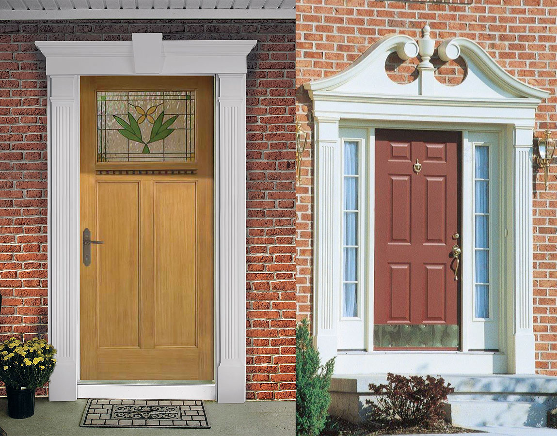 Fypon door surrounds fypon door molding door trim for Exterior door pediment and pilasters