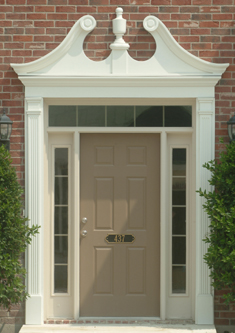Fypon photo gallery accent building products for Exterior door pediment and pilasters