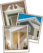 Interior and exterior photos of Fypon trim