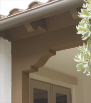Fypon southwest collection shutters beams corbels for Fypon wood beams