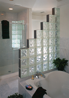 Bathroom Partition Glass Model glass block photo gallery  accent building products
