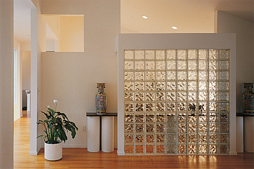 Decora glass block panels and sidelites decora glass block wall