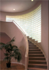 Staircase Glass Block Wall