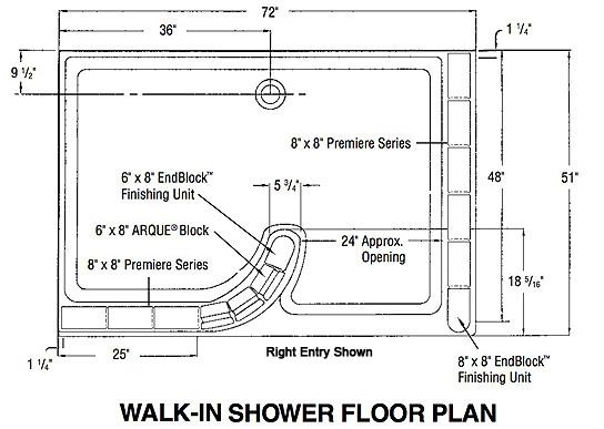 Walkin Glass Block Shower Kit Glass Block Shower Kit Accent Building Pro