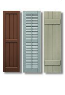 Exterior Window Shutters, Vinyl and Wood Composite, Exterior Accents ...
