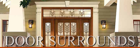 Vinyl door surrounds fypon entrance systems pilasters - Decorative exterior door pediments ...