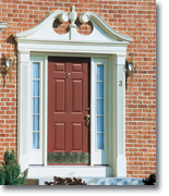 Door Pilasters Fypon Dsks27p869k Single Door Surround Kit With 86 W X 9 H Crosshead With