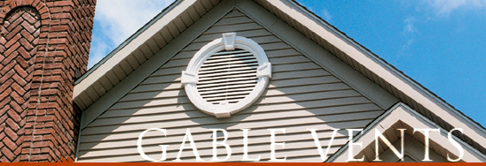 Louvers and gable vents make a beautiful addition to your home's exterior.  Typically gable vents are used to ventilate attic spaces, but they can be used for decorative purposes also.  Select from vinyl gable vents or Fypon urethane gable vents in a variety of shapes and sizes.