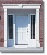 Vinyl door surrounds fypon entrance systems pilasters for Fypon exterior shutters